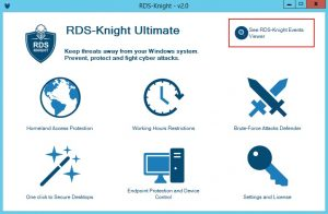 RDS-KNIGHT 2.0 TO TRACK ATTACKS AND VISIBLY SECURE TSPLUS SERVERS