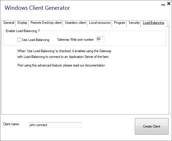 client generator load balancing