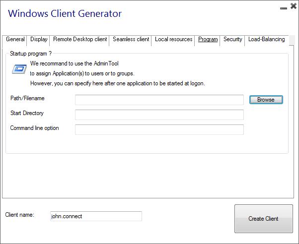 client generator program