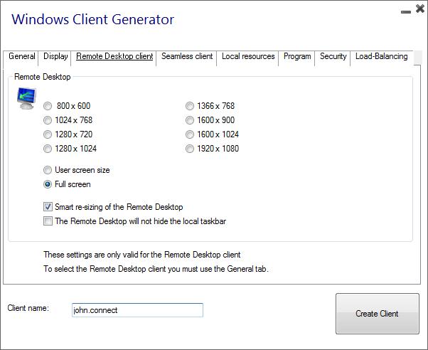 client generator rdc