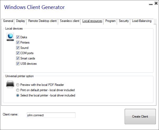 client generator resources