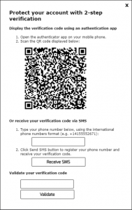 TSplus Two Factor Authentication