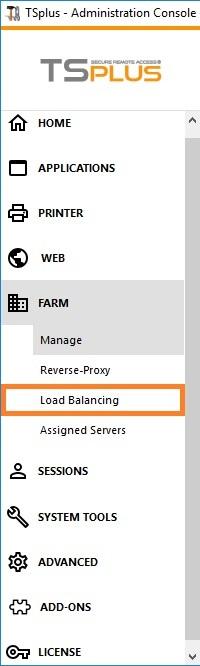 farm load balancing tab