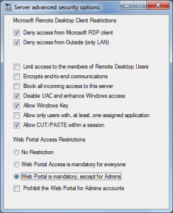 Read more about the article Gateway Server: Prevent RDP access and allow HTTP