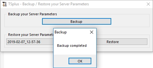 backup server parameters