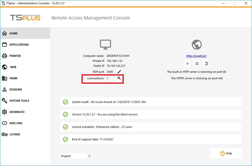 Server Management | TSplus
