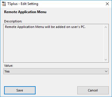 advanced remoteapp menu