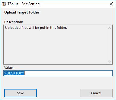 advanced upload target folder