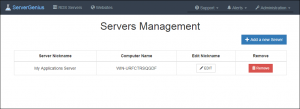 Servers Management