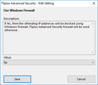 TSplus Advanced Security Firewall
