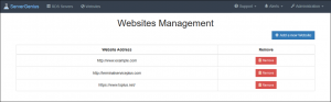 Websites Management