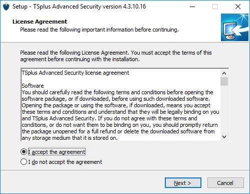Setup TSplus Advanced Security