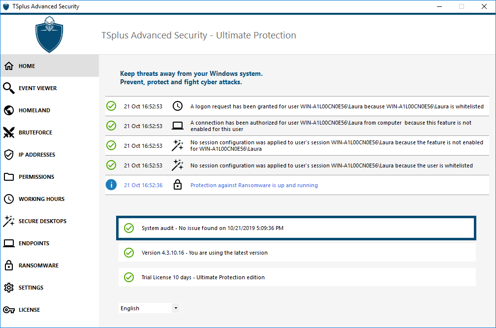 System Audit TSplus Advanced Security
