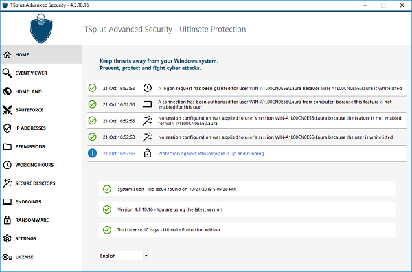 TSplus-Advanced-Security-home screen