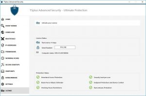 Activating TSplus Advanced Security