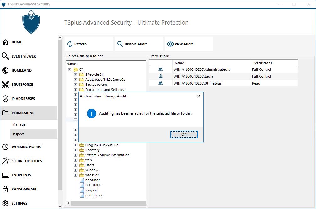 permissions-inspect-enable-audit