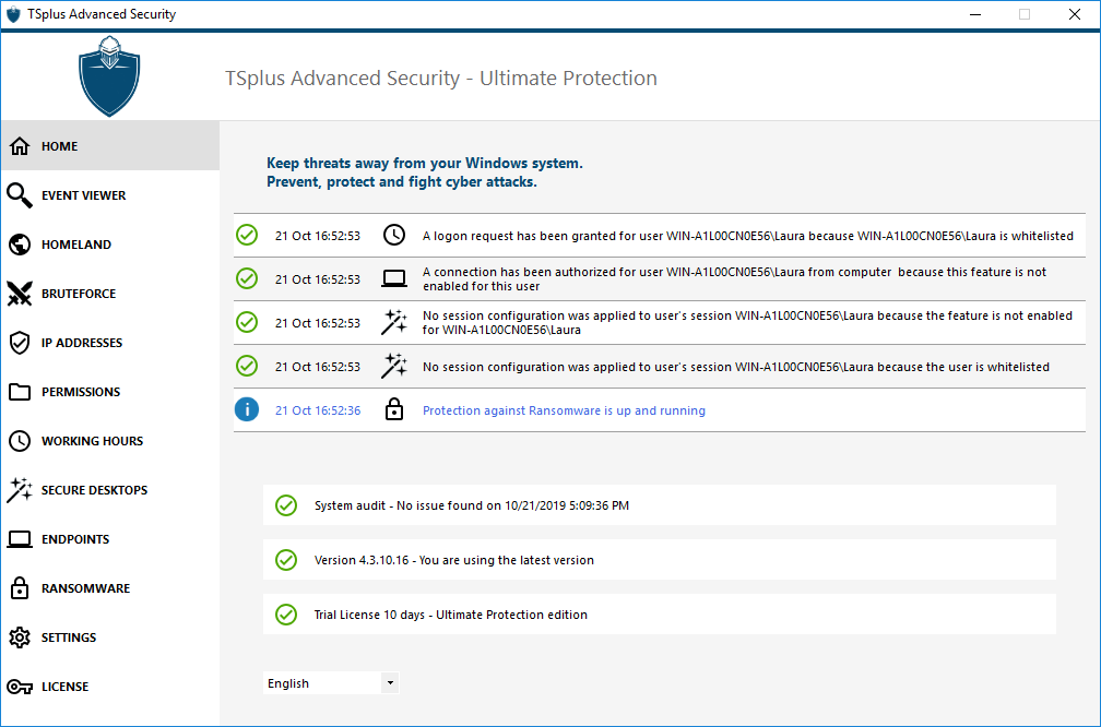 TSplus Advanced Security Firewall
