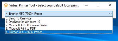 Virtual Printer Tool