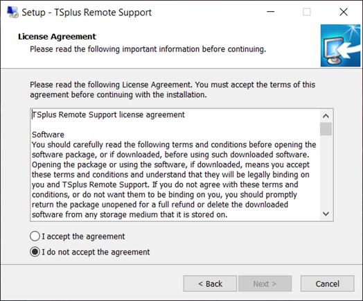 Remote support license