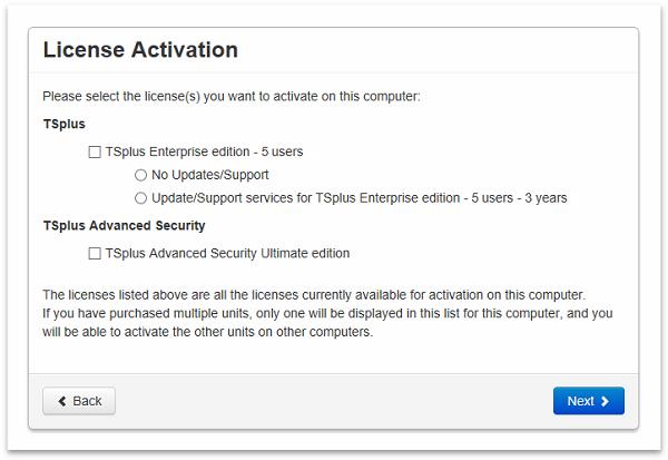 activate license choose