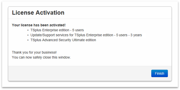 License activation rwmote support
