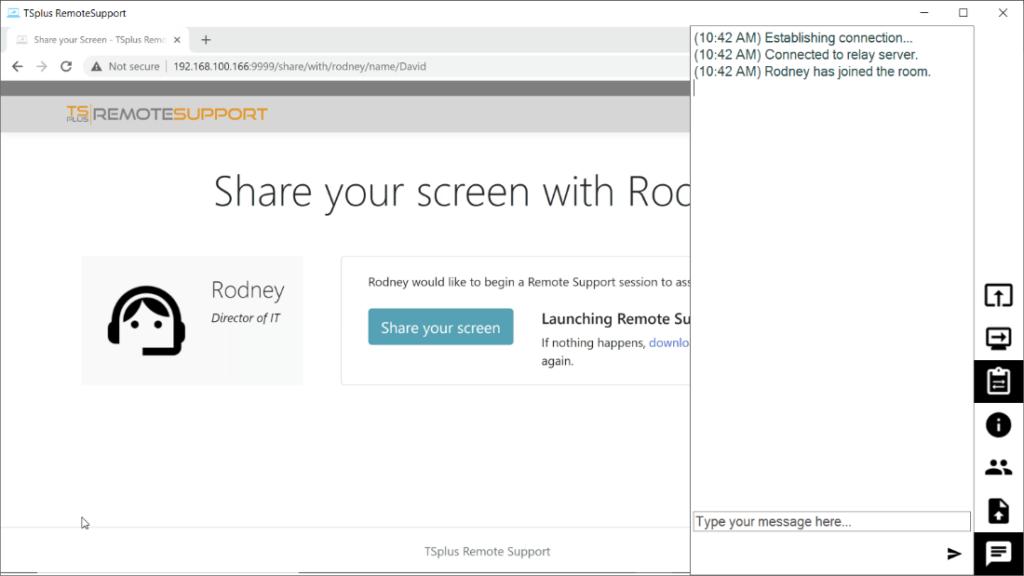 agent interface screen