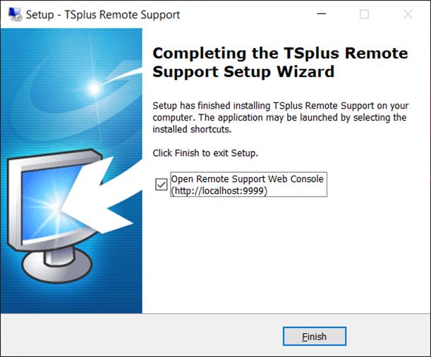 setup remote support complete