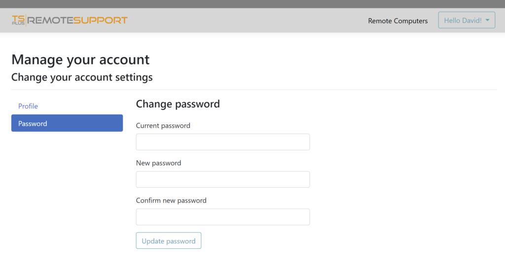 web console agent password