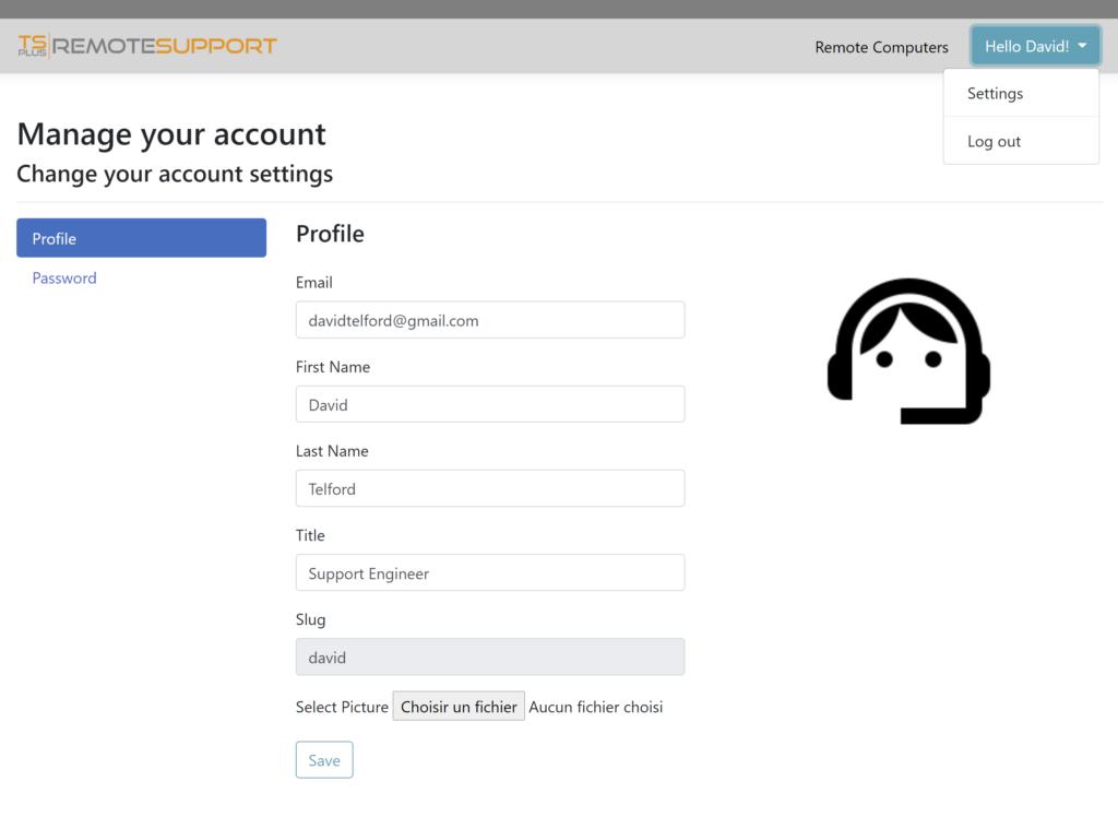 web console agent profile